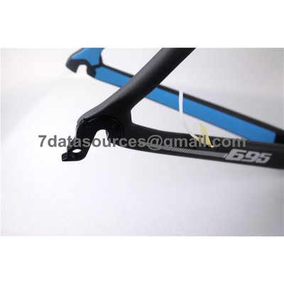 Look 695 Carbon Fiber Road Bike Bicycle Frame Black Matte-Look Frame