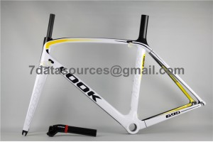 Look 695 Carbon Fiber Road Bike Bicycle Frame Reddish Yellow