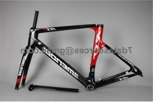 Carbon Fiber Road Bike Bicycle Frame Mendiz RST Red