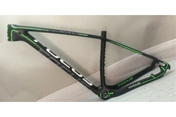 Mountain Bike Focus MTB Carbon Bicycle Frame Green