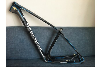 Mountain Bike Focus MTB Carbon Bicycle Frame Blue