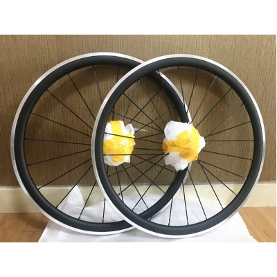 Clincher & Tubular Rims Carbon Road Bike Wheels Aluminum Braking Surface-Carbon Road Bicycle Wheels