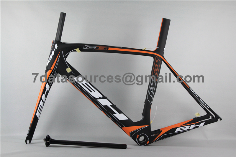 bh g6 carbon road bike bicycle frame orange