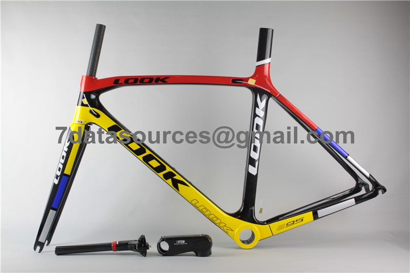 Carbon Bike Frame >> Look 695 Carbon Fiber Road Bike Bicycle Frame Reddish Yellow Mpn15bl1sku