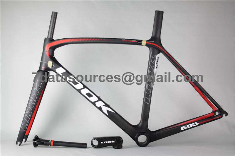 Look 695 Carbon Fiber Road Bike Bicycle Frame Black