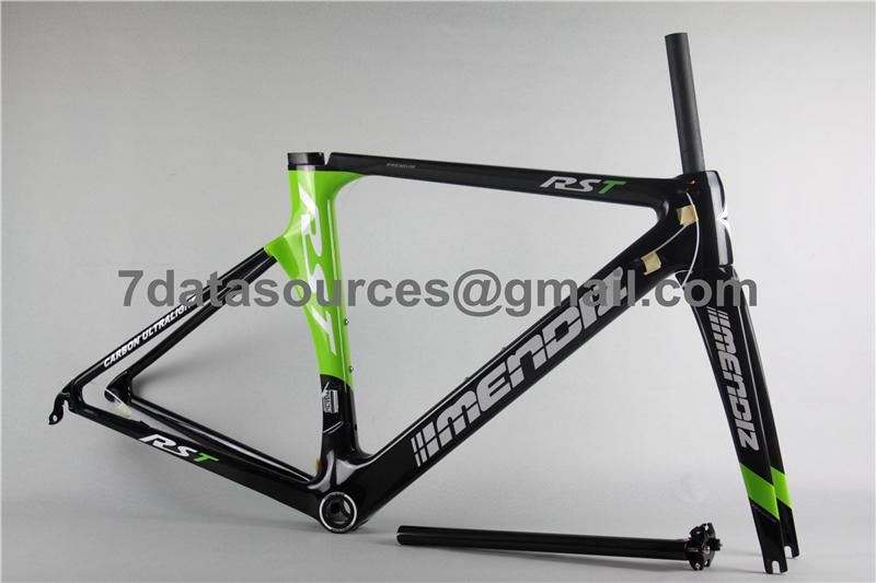 carbon fiber road bike bicycle frame mendiz rst green