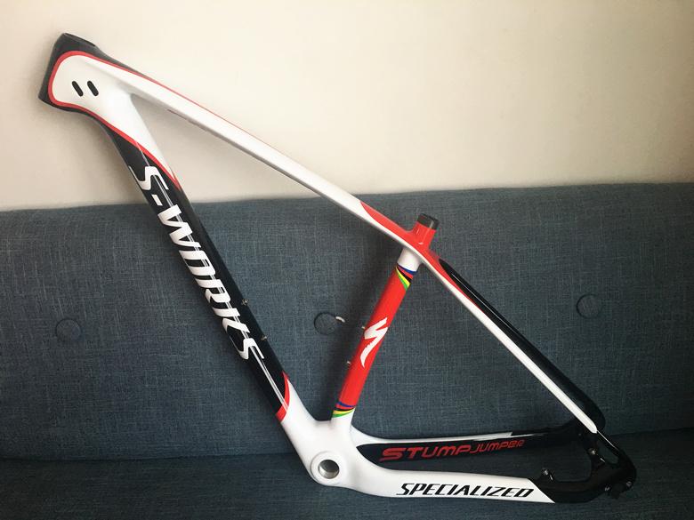 Carbon Bike Frame >> Mountain Bike Specialized S Works Carbon Bicycle Frame Mpn15msp2sku