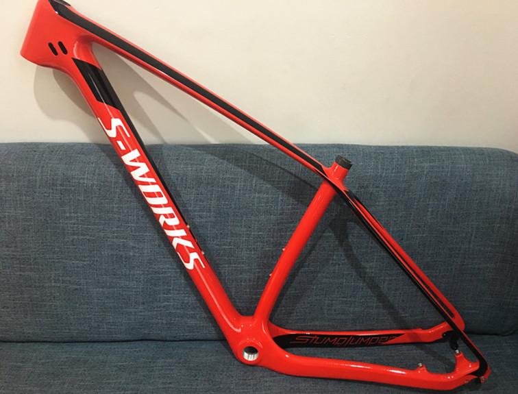 Carbon Bike Frame >> Mountain Bike Specialized S Works Carbon Bicycle Frame 29 5er Mpn15msp1sku